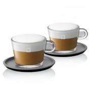 Set 2 cesti sticla cappuccino