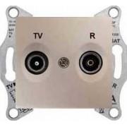 SEDNA TV-R aljzat átmenő 4 db IP20 Titán SDN3301868 - Schneider Electric
