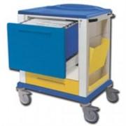 carrello multifunzione portacartelle - 3 cassetti - serratura - 82x64x