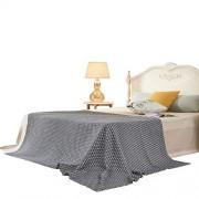 Fassbel Manta de algodón Importado Suave para sofá/sofá/Cama/Picnic Impresa (60 x 90 cm), Color Gris