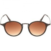 Ivy Vacker Brown Oval sunglass for men