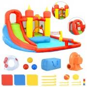 Happy Hop Insuflável com escorrega e piscina 410x385x220 cm PVC