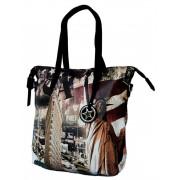Stylová velká kabelka na rameno 404-BB černá