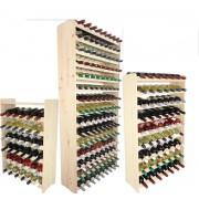Wijnrek - 38x42x26,5 cm (LxBxD) - Massief Hout - 12 flessen - Flessenrek Modulair en Stapelbaar - Flessenhouder Staand