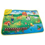 Techege Toys Fun Learning Playmat Educational Learn'n'Play Animal Sounds Numbers Musical Rhythm Safe Fun for All Ages