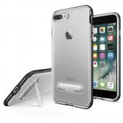 Spigen Crystal Hybrid Case - хибриден кейс с висока степен на защита и поставка за iPhone 8 Plus, iPhone 7 Plus (прозрачен-черен)