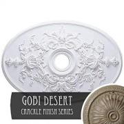 Ekena Millwork CM21X30ALAMF Alexa Medallón de techo, Americana, Gobi Desert Crackle
