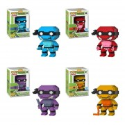Funko Pop 4 Set 8-bit Neon Raphael Leonardo Donatello Michel