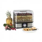 Klarstein Valle Deluxe, сушилня за плодове, дехидратор, 5 мрежови рафта, 250W, неръждаема стомана (KG3-Valle Deluxe)