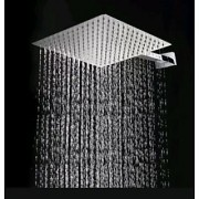 EASY RAIN 10x10 Inch Ultra Thin Shower Head with 12 Inch Square Shower Arm