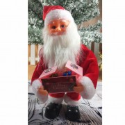 Christmas Santa Claus Doll Xmas Dancing Electric Toy - Red
