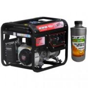 Generator curent AGT 3501 HSB TTL 3 kW GP 200 motor 6 5 CP sincron monofazat tip AVR cu perii + Cadou 1x Ulei pentru motoare in 4T AgroPro