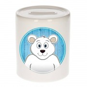 Bellatio Decorations Dieren spaarpot ijsbeer voor kinderen 9 cm