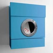 Radius Design Letterman 2 Briefkasten blau (RAL 5012) ohne Klingel ohne Pfosten