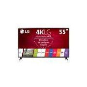 Smart TV LED 55 Ultra HD 4K LG 55UJ6300 com Sistema WebOS 3.5, Wi-Fi, Painel IPS, HDR, Quick Acess, Magic Mobile Connection, Music Player, HDMI e USB
