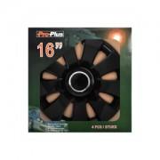 ProPlus Copricerchi set Aura nero 16 pollici 4 pezzi in scatola di presentazione 310852S