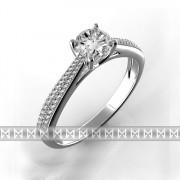Luxusní zásnubní prsten s diamanty Adriana, bílé zlato 3860603 - vel. 54