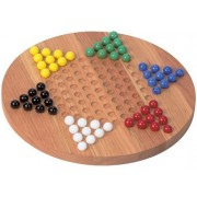 Wooden Chinese Checkers Board Game Heirloom Quality Made In Usa
