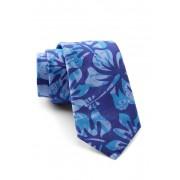 Original Penguin Wild Hibiscus Print Tie BLUE