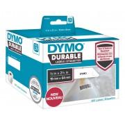 Dymo LW Durable barcode 19mm x 64mm, 450 etiketter, vit