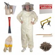 Lubéron Apiculture Kit Rucher Expert - Gants - 7 , Vêtements - M
