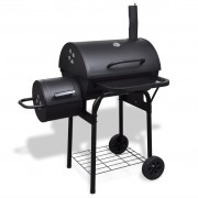 vidaXL Heavy-duty Charcoal BBQ Offset Smoker