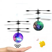 SZSMART Rc Flying Ball Kid Boy Toys Infrared Induction Helicopter with Rainbow Shinning Led Lights and Remote Control for Kids Teenagers Colorful Flyings Kid's Toy?Random Color?