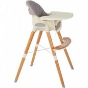 Scaun de masa Mamakids cu picioare din lemn, Innovation Gri