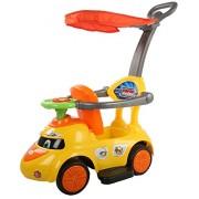 Baybee Tikki-Rikki Push Car with Canopy and Parent Control, Music Sound (Yellow)
