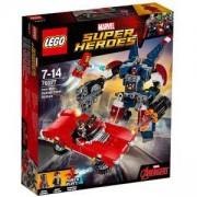 Конструктор Лего СУПЕР ХИРОУС - Железният човек: Нападението на Стоманата от Детройт, LEGO Super Heroes, 76077