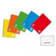 Blasetti Quaderno Blocco Spiralato One Color Senza Fori Archivio Formato A4 Quadretti 5,0 Mm Colori Assortiti