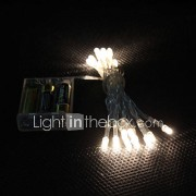 2m 20-led warm wit licht 2-mode LED Slinger fee lamp voor kerst (3xAA)