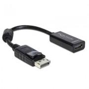 DELOCK Adaptador Displayport M a HDMI H Negro