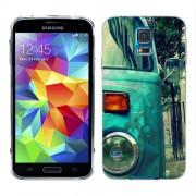 Husa Samsung Galaxy S5 Mini G800F Silicon Gel Tpu Model Vintage Car