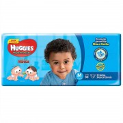 Fraldas Descartáveis Infantis Huggies Turma da Mônica Tripla Proteção Jumbo Tamanho Médio Com 32 Unidades