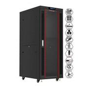 Sysracks 32U se Red Datos Servidor clóset Rack Enclosure 99.1 cm Profundidad Bono Gratis de $150 Valor Estante, Thermo Sistema, PDU, 4 Ventiladores