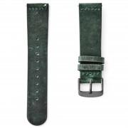 Sidegren Grünes Uhrenarmband Mit Aschgrauer Schließe
