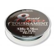 Fir Textil Daiwa Tournament 8x Braid Evo Verde Inchis 135m
