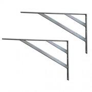 AOLI Soporte de estante de acero inoxidable 304 se abrieron y espesado, doble diagonal Brace Triángulo de soporte, alta dureza, 2 Sólo Teniendo 200Kg,60cmx35cm