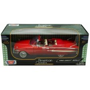 1960 Chevy Impala, Red - Motormax 73110 - 1/18 scale Diecast Model Toy Car