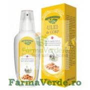 Ulei de corp cu ulei de migdale dulci si extract uleios de musetel nota romanita 200 ml Manicos