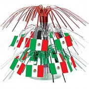 Mexican Flag Mini Cascade Centerpiece Party Accessory (1 Count) (1/Pkg)