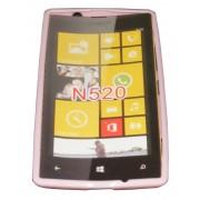 Силиконов гръб ТПУ за Nokia Lumia 520 Розов