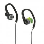 Casti audio auriculare Scosche SportFlex™ 3 cu microfon integrat, pentru fitness (Negru)
