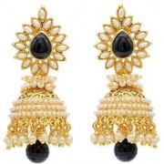Jewels Gehna Gold Plated Contemporary Handcrafted Wedding Jhumka Jhumki Earring Set For Women Girls