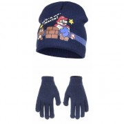 Super Mario Navy Super Mario muts en handschoenen