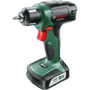 Maşină de găurit/înşurubat Bosch EasyDrill 12 06039B3001, 12 V, 700 rpm, Acumulator Litiu-Ion, Indicator nivel de încărcare, Softgrip, Negru/Verde
