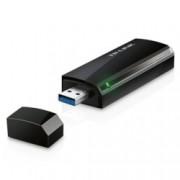 Мрежови адаптер TP-Link Archer T4U, 1200 Mbps, Wireless-AC, AC1200 Wireless Dual Band USB Adapter