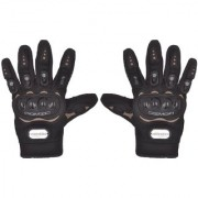 RMA-6001 Romic Leather Motorcycle Full Gloves (Black Large)