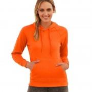 Fruit Of The Loom Oranje sweater/hoodie met capuchon voor dames
